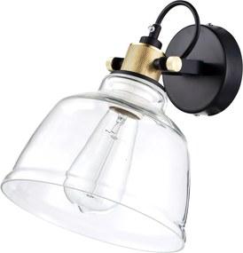 Irving III - Aplică din sticlă transparentă in stil industrial