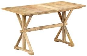 247591 vidaXL Masă de bucătărie, 118x58x76 cm, lemn masiv de mango