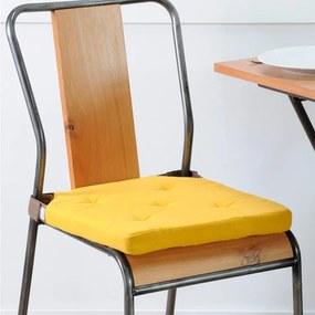 Pernuţă pentru scaun DUO UNI cu scai, muştar