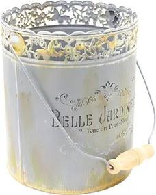 Ghiveci Belle Jardin din metal gri 20x23 cm