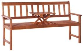 44041 vidaXL Bancă de grădină 3 locuri & masă maro 158cm lemn masiv acacia