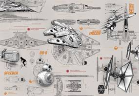 Komar Fototapet - STAR WARS Blueprints