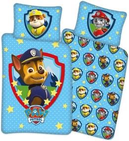 Set lenjerie pat copii Paw Patrol Stars 100x135 + 40x60 SunCity