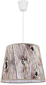 Lustră pe cablu POP 1xE27/40W/230V lemn maro