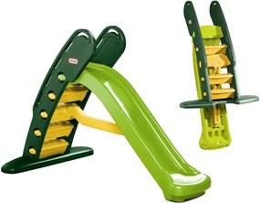 Tobogan de Gradina XXL pentru Copii Little Tikes, Pliabil, cu Scara, 180cm, Verde