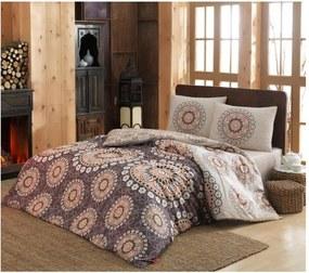 Lenjerie de pat cu cearșaf pentru pat dublu Libra, 200 x220 cm