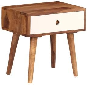 246263 vidaXL Noptieră, 45x30x45 cm, lemn masiv de sheesham