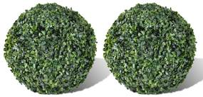 Set arbusti ornamentali artificiali 27 cm 2 buc