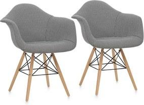 OneConcept Visconti, scaun, set de 2 piese, construcție polimerizată, lemn de mesteacăn, culoare neagră