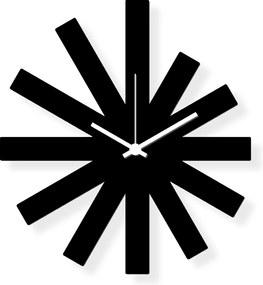 Ceas de perete de dimensiuni medii, sticlă acrilică neagră 40x30 cm - Black Star | DSGN
