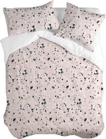 Husă din bumbac pentru pilotă Blanc Pink Granite, 200 x 200 cm