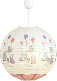 Rábalux Cathy 4632 Pendule pentru copii multicolor roz - 40 x 40 cm