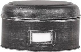 Recipient metalic LABEL51 Antigue, ⌀ 21,5 cm, negru