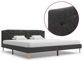 280551 vidaXL Cadru de pat, negru, 180 x 200 cm, material textil