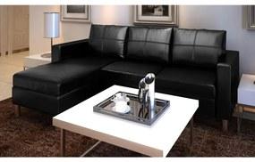 241979 vidaXL Canapea modulară cu 3 locuri, piele artificială, negru