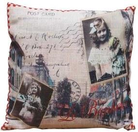 Perna Decorativa Bonheur Postcard, 40x40 cm