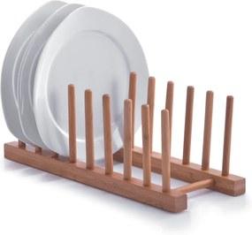 Suport din lemn pentru vase 34x12,5x12 cm, Zeller