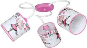 Plafonieră copii BAMBINO 3xE14/40W/230V roz