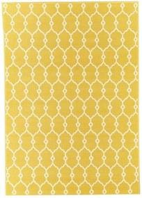 Covor foarte rezistent Floorita Trellis, 133 x 190 cm, galben
