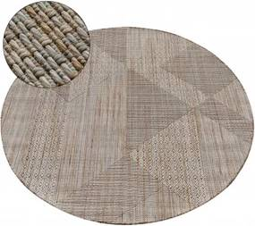 Covor Nature rotund SL110 bej sisal Boho cerc 80 cm