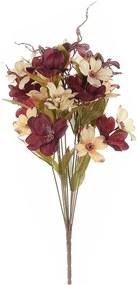 Buchet de flori artificiale burgundy bej 42 cm
