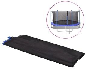 Plasă de siguranță PE, negru, trambulină rotundă 4,57 m