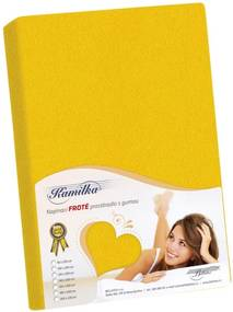 Cearşaf de pat Kamilka, galben, 160 x 200 cm, 160 x 200 cm