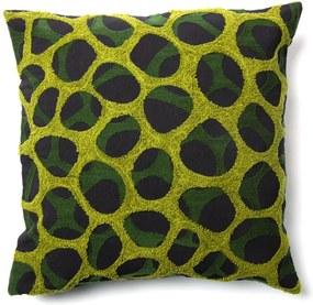 Față de pernă La Forma Adila, 45 x 45 cm, negru - verde