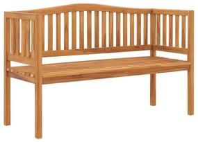 49359 vidaXL Bancă de grădină, 150 cm, lemn masiv de tec