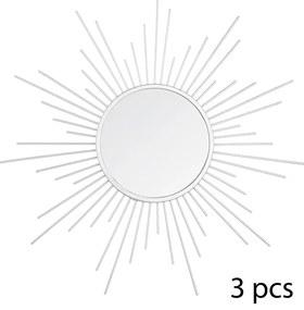 Set 3 decoratiuni de perete cu oglinda JJA Pasery P1