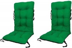 Set Perne pentru scaun de gradina sau sezlong, 48x48x75cm, culoare verde, 2 buc/set