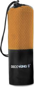 Prosop cu uscare rapidă DecoKing EKEA, 80 x 160 cm, portocaliu