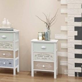 242876 vidaXL Dulap în stil franțuzesc, cu 3 sertare, lemn