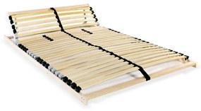 246453 vidaXL Bază de pat cu șipci, 28 șipci, 7 zone, 120 x 200 cm