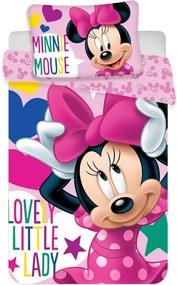 Lenjerie de pat Minnie baby, pentru copii, 100 x 135 cm, 40 x 60 cm