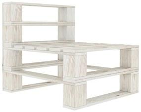 49334 vidaXL Canapea din paleți de mijloc pentru grădină, alb, lemn