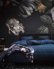Cuvertura Fleur Night Blue , 220x265 cm