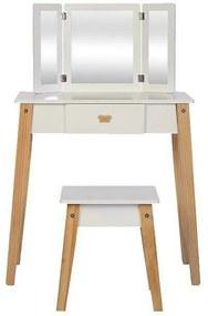 byAstrup - Masuta si scaun machiaj pentru fetite din lemn FSC, +3 ani,
