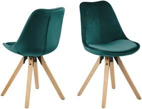 Set 2 scaune Actona Damia Velvet, verde