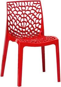 Set 2 scaune Evergreen House Faux, roșu