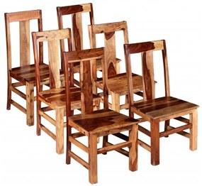274764 vidaXL Scaune de bucătărie 6 buc, lemn masiv de sheesham