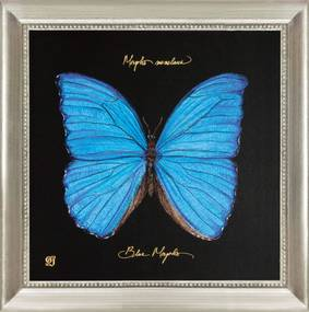 Tablou fluture albastru Joyner Blue Butterfly (30x30cm) | PRIMERA COLLECTION