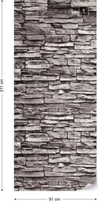 GLIX Tapet netesute pe usă - Stone Wall