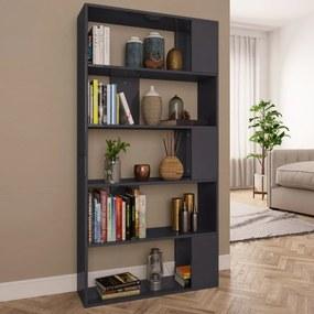 800107 vidaXL Bibliotecă/Separator cameră gri extralucios 80x24x159 cm PAL