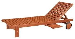 Sezlong din lemn, 196x71x28/81 cm - LANGELAND