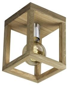 Spot-Light 9158174 - Plafonieră KAGO 1xE27/60W/230V stejar mat