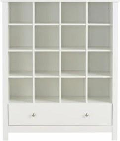 Bibliotecă albă cu sertar Støraa Julian