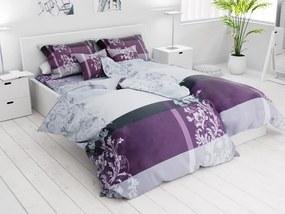 Lenjerie de pat din bumbac Lux violet din 7 piese