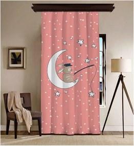 Draperie Curtain Moon, 140 x 260 cm, roz