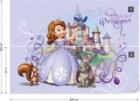 Fototapet GLIX - Disney Sofia the First  + adeziv GRATUIT Tapet nețesute - 254x184 cm